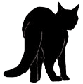 stand6 猫シルエット Cat Silhouette