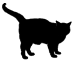 stand7 猫シルエット Cat Silhouette