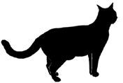 stand9 猫シルエット Cat Silhouette