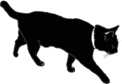 walk1 猫シルエット Cat Silhouette