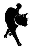 walk10 猫シルエット Cat Silhouette