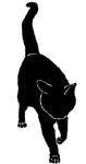 walk11 猫シルエット Cat Silhouette