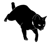 walk12 猫シルエット Cat Silhouette