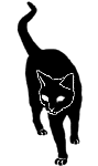 walk13 猫シルエット Cat Silhouette