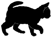 walk3 猫シルエット Cat Silhouette