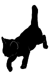 walk4 猫シルエット Cat Silhouette
