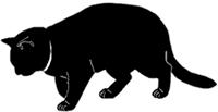 walk5 猫シルエット Cat Silhouette