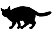 walk6 猫シルエット Cat Silhouette