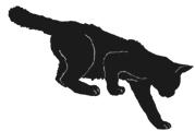 walk7 猫シルエット Cat Silhouette
