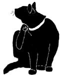 wash1 猫シルエット Cat Silhouette