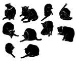 猫シルエット