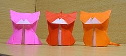 猫おりがみ origami cat